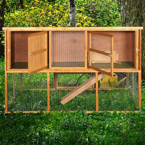 6ft rabbit hutches home roost 6ft kendal rabbit hutch and run