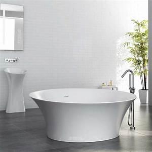 Halb Freistehende Badewanne : freistehende badewannen aus mineralguss optirelax blog ~ Frokenaadalensverden.com Haus und Dekorationen
