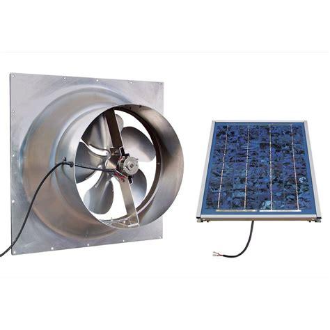 solar powered attic fan reviews gable 10 watt solar powered attic fan safg ss the home depot
