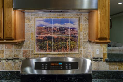 kitchen murals backsplash placement the mural backsplash is one alternative for