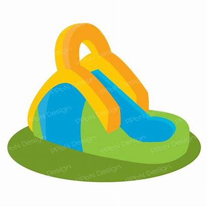 Clipart Slide Water Inflatable Slides Icon Drawing