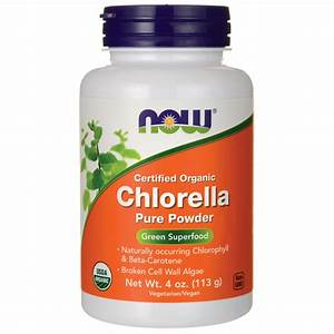 Now Foods Certified Organic Chlorella Pure Powder 4 Oz  113 G  Pwdr
