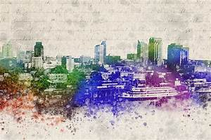 Sacramento City Skyline Digital Art by Aged Pixel