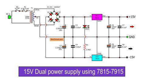 dual  power supply schematic  pcb