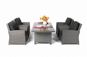 Rattan Lounge Grau : ellis rattan lounge gartenm bel tisch set mix grau ~ Watch28wear.com Haus und Dekorationen