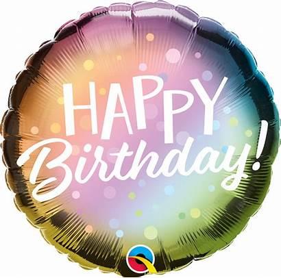 Birthday Happy Metallic Dots Foil Ombre Balloon