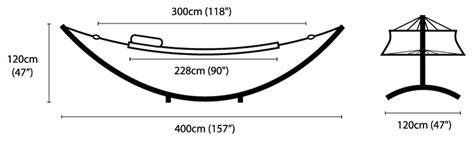 Standard Hammock Dimensions by Nusantara Teak