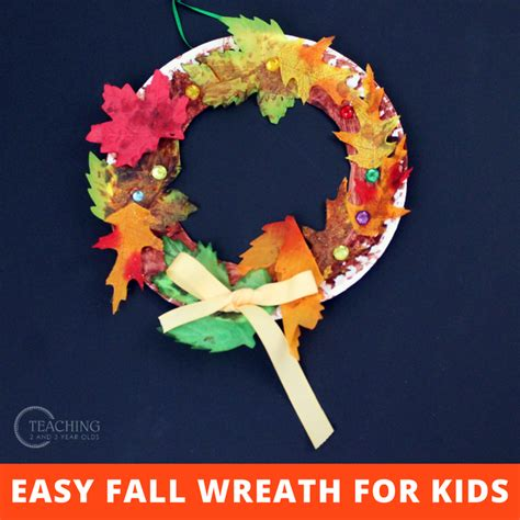super easy fall wreath  toddlers