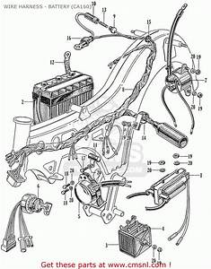 Honda Ca160 Touring 160 1966 Usa Wire Harness