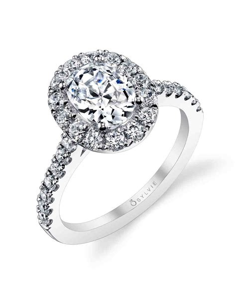 oval engagement rings for the to be martha stewart weddings