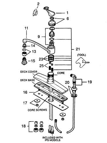 valley single handle kitchen faucet repair parts