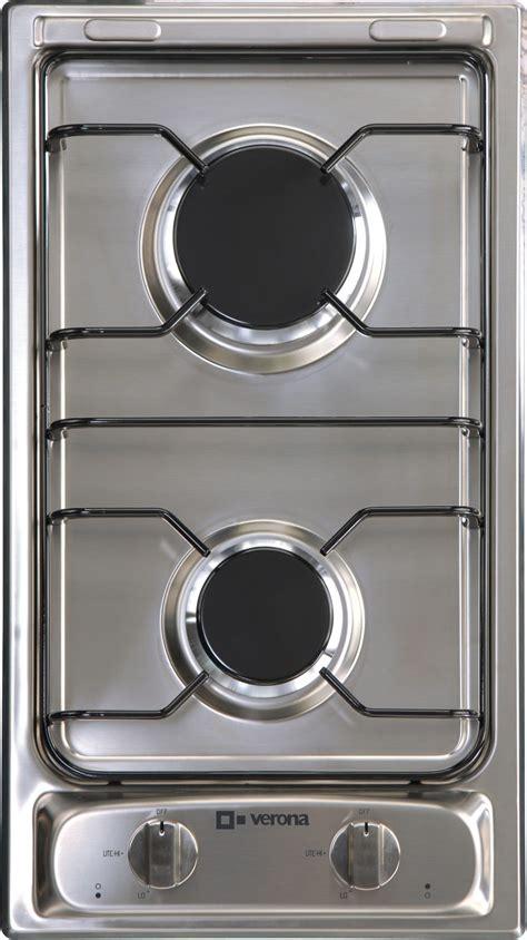 lp natural gas counter top drop  stove burners  verona