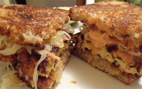 ruben cuisine the quot v quot word tempeh reuben sandwiches