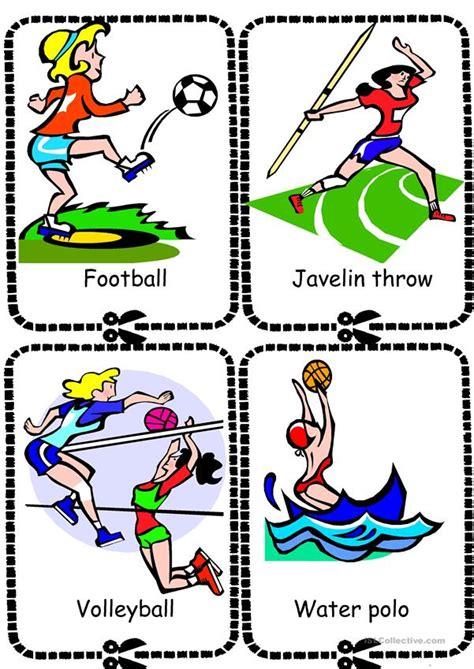 Sports Flashcards Worksheet  Free Esl Printable Worksheets Made By Teachers