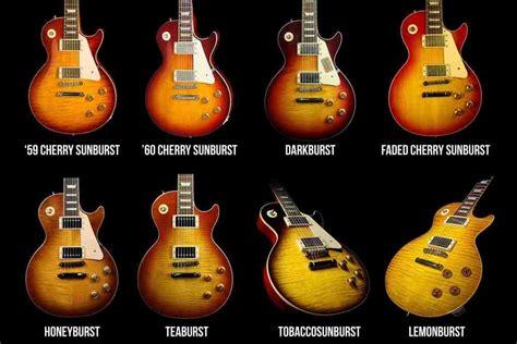 guitar colors les paul burst colors ah the choices what s your