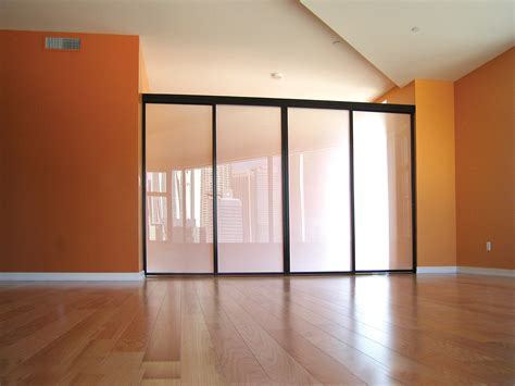 Wonderful Sliding Glass Room Dividers For Lofts The