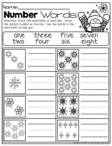 winter math and literacy packet no prep kindergarten