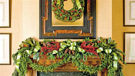 how to decorate a mantel for christmas southern living
