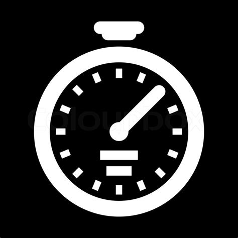 work lunch box icon stopwatch black white stock vector colourbox