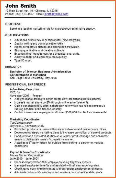 5 chronological resume sle resume combination resume