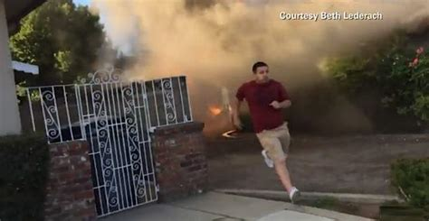 humble delivery man  hero  dramatic fire rescue