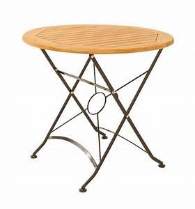 Gartentisch Metall Rund : gartentisch klapptisch wien rund d 80 cm metall und fsc eukalyptus ~ Yasmunasinghe.com Haus und Dekorationen
