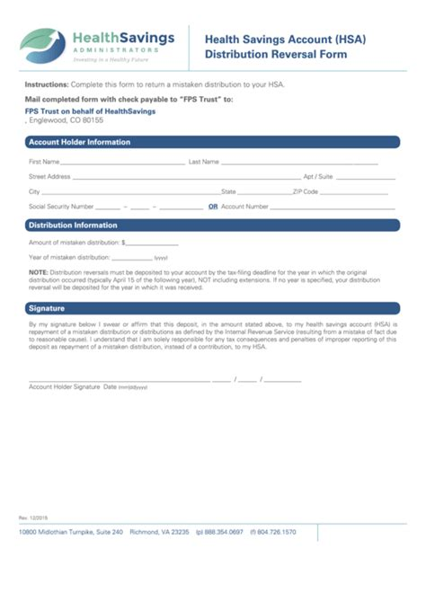 top 7 hsa distribution form templates free to in