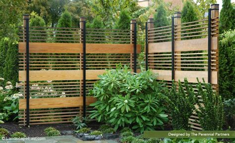 landscaping screens wooden pergolas other structures landscape east west