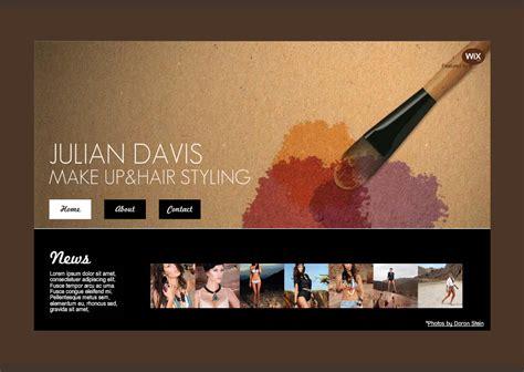 artist website templates makeup artist website template search project website