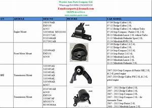 A5418 Em3134 5105667af Front Motor Mount For Dodge Caliber