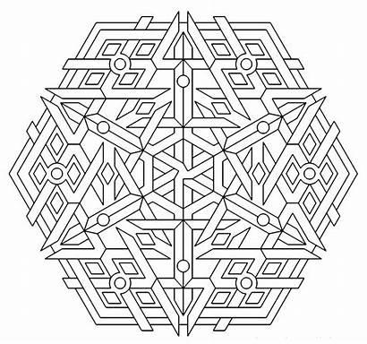 Coloring Mandala Geometric