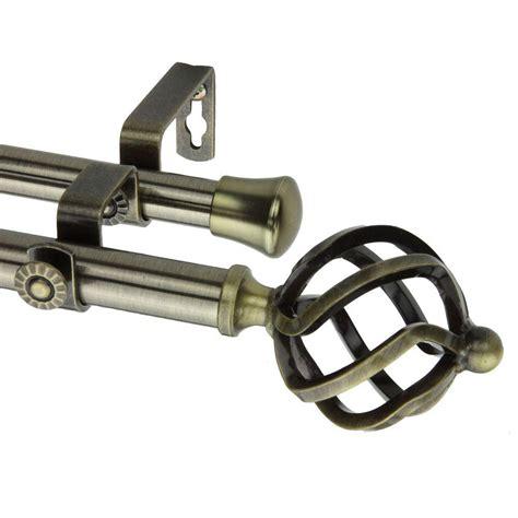 Rod Desyne Curtain Rod With Twist Finials by Rod Desyne 66 In 120 In Telescoping Curtain Rod