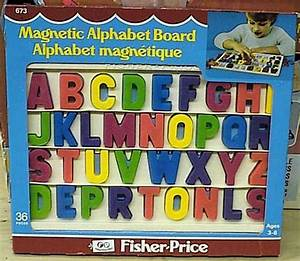 673 magnetic alphabet board With magnetic alphabet letters and board