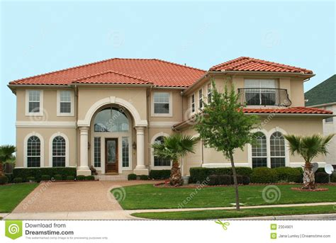 mediterranean style home stock image image  real blue