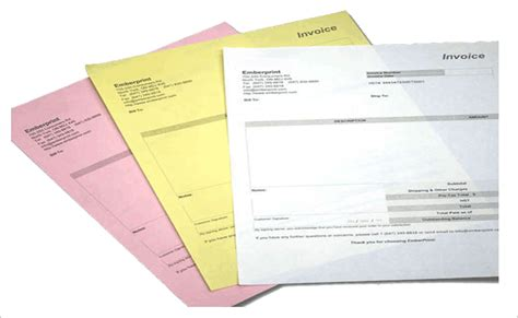 part carbonless forms custom printed  part ncr forms