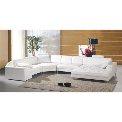 grand canapé d angle cuir grand canapé d 39 angle panoramique en cuir blanc king