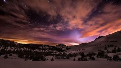 Night Winter Wallpapers Yosemite Mountain Christmas Snow