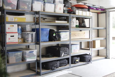 Simply Done Custom Wall Of Garage Shelving  Simply Organized