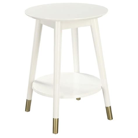 white round accent table oswald round glass wood end table