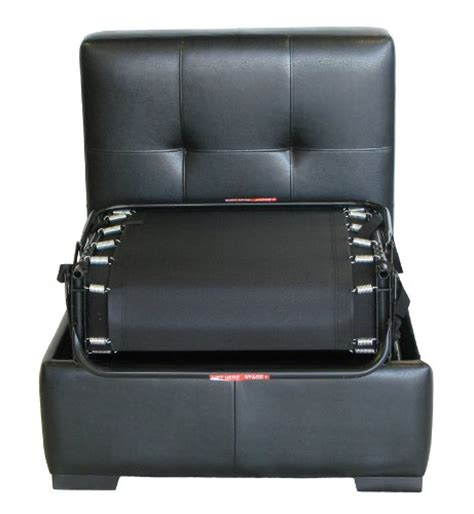 pull out ottoman espresso contemporary leather ottoman pull out bed