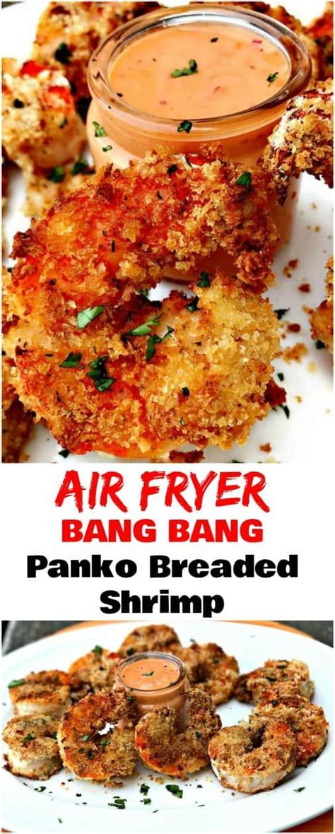 shrimp fryer air fried recipes recipe seafood breaded bang panko cooking fry dinner easy buzzfeed meal airfryer healthy chili keto