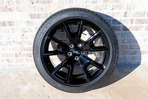 """2017 19"""" black aluminum wheels with tires - The Mustang ..."""