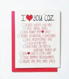 Reasons Why I Love You Card
