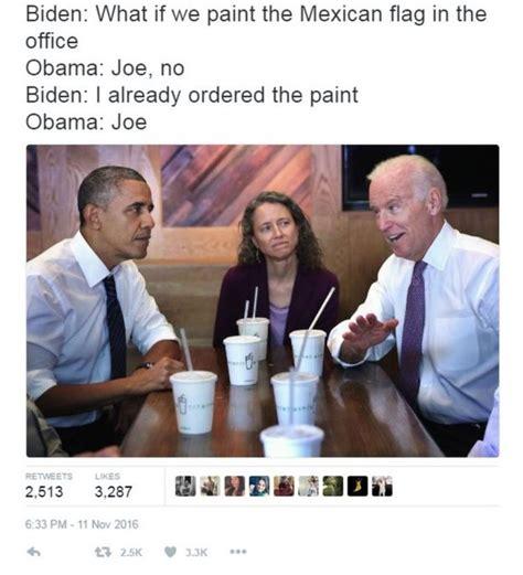 Obama Joe Biden Memes - biden and obama memes jokes on trump imagined