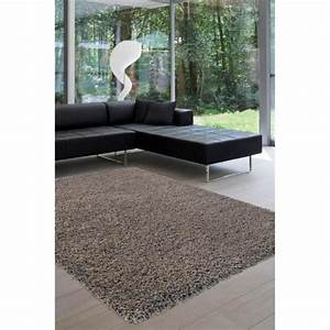 tapis shaggy taupe eshtar matiere polypropylene achat With tapis shaggy taupe