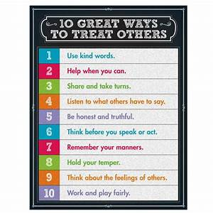 10 Great Ways to Treat Others Poster