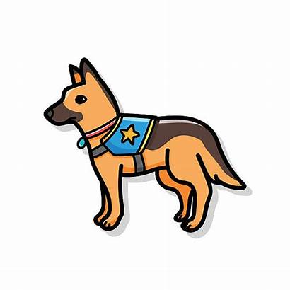 Rescue Dog Clip Vector Police Illustrations Doodle
