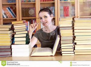 Woman In The Library Royalty Free Stock Images - Image ...