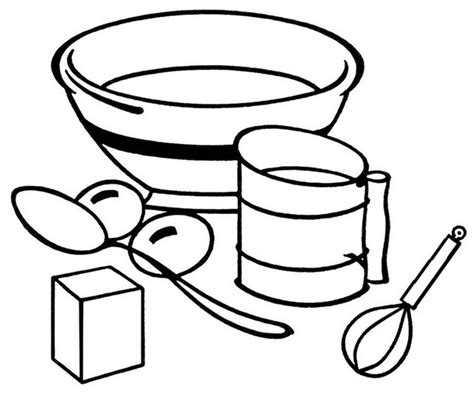 Coloring Utensil by Baking Essentials And Tools Coloring Page