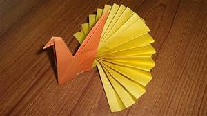 Paper, Peacock, Making, -, Easy, Origami, Paper, Crafts, For, Kids